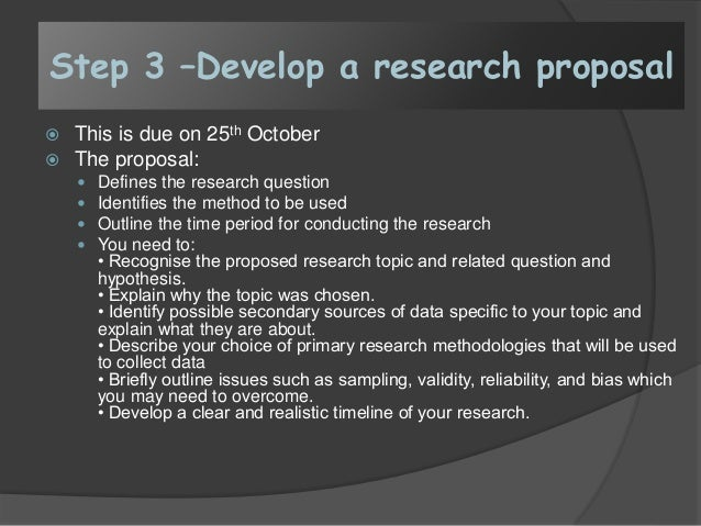 Research proposal for dummies
