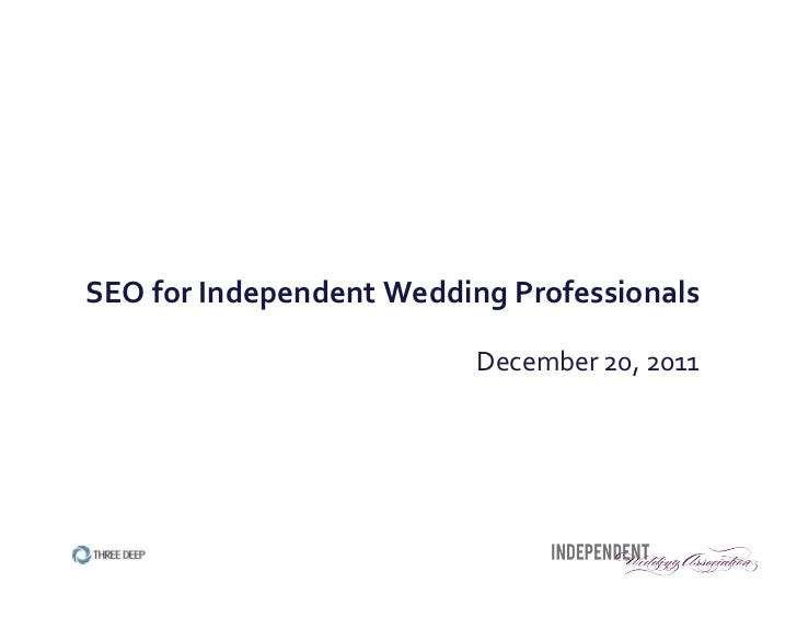 SEO for Independent Wedding Professionals