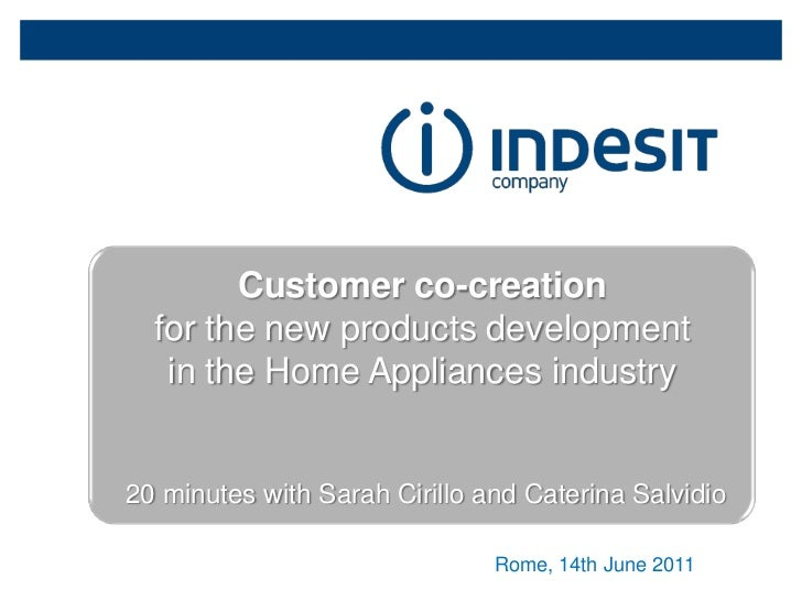 Customer Co-creation in Indesit Company