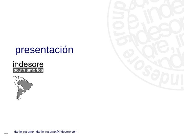 Indesore South America Presentation