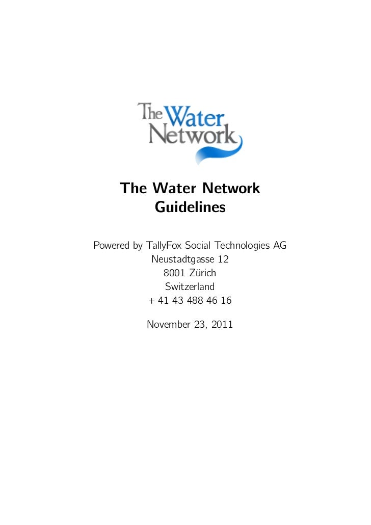The Water Network Guidelines
