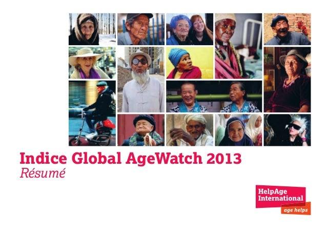 Indice Global AgeWatch 2013 Résumé