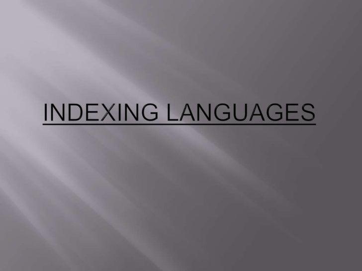 Indexing languages