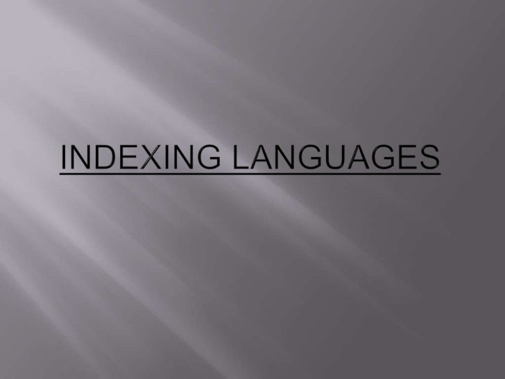    Much more than a list of index terms that are    acceptable to users.   Contains mechanisms for structuring and using...
