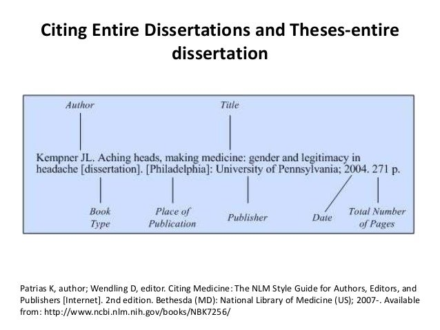 cite a dissertation This guide provides basic information on how to cite sources and examples for formatting citations in common citation styles gehring, a phd dissertation.