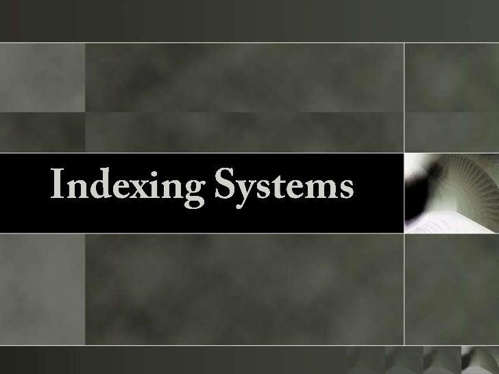 Indexing+report roxane