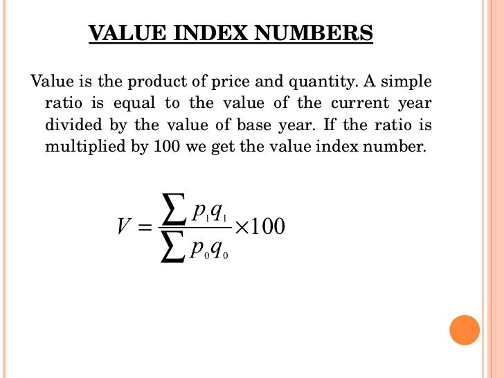 index numbers Chapter 5 index numbers index numbers • an index number measures the relative change in price, quantity, value, or some other item of interest from one time period to another.