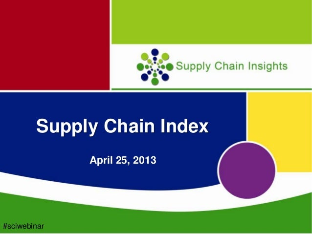 Launch of the Supply Chain Index webinar Slide Deck