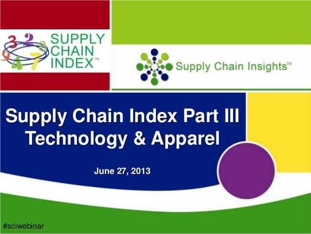 Supply Chain Index – Part III – Technology and Apparel