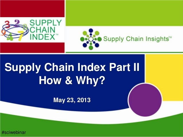 Supply Chain Insights Webinar on the Supply Chain Index on May 23rd