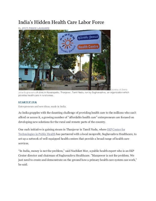 India's Hidden Health Care Labor ForceBy JYOTI PANDE LAVAKARE                                                             ...