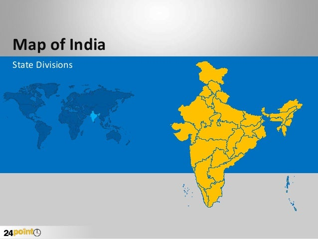 Map of India State Divisions