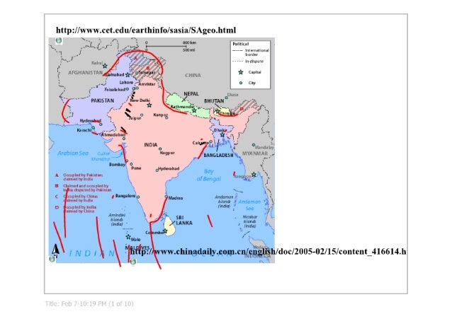 India and South Asia Smartboard Notes