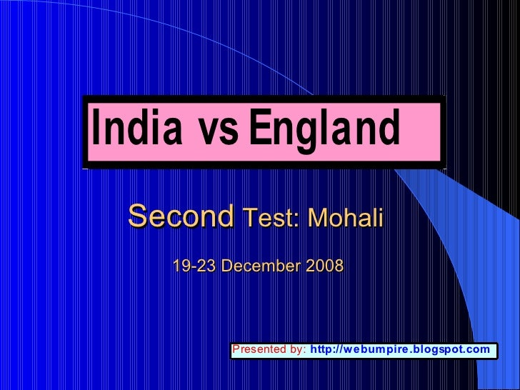 India vs England: 2nd Test Score card