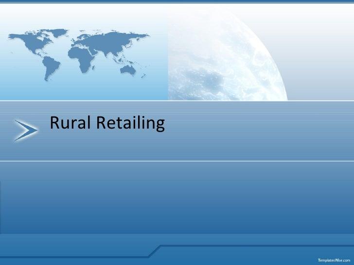 Rural retailing in India