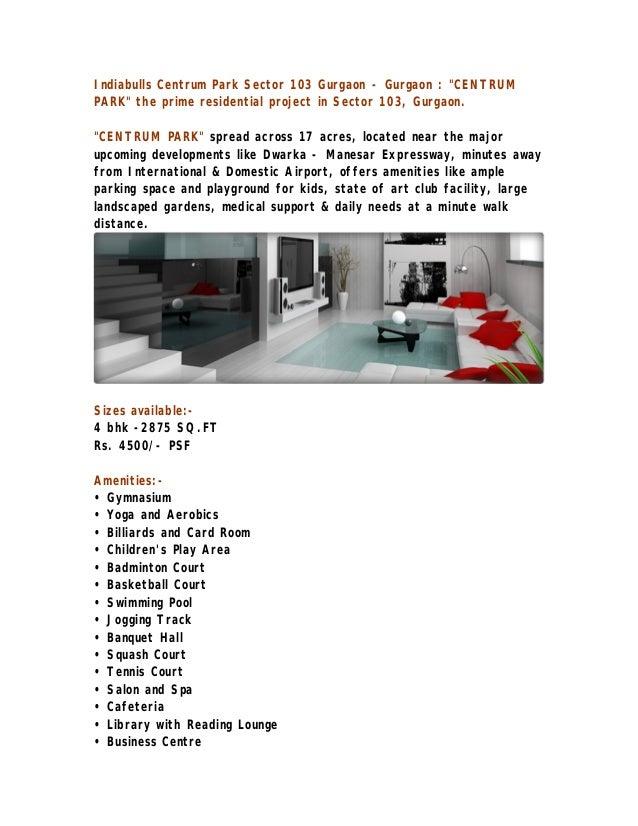 4 BHK Flats Sector 103 |9810100067| 4 BHK Flats Gurgaon