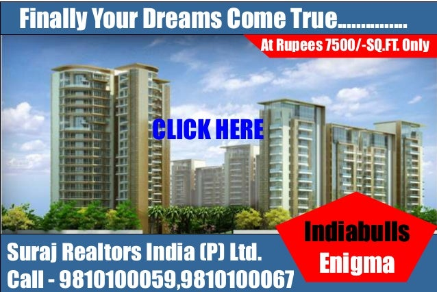 Book Indiabulls Group Enigma Sector 110 Gurgaon,Dwarka Expressway Projects