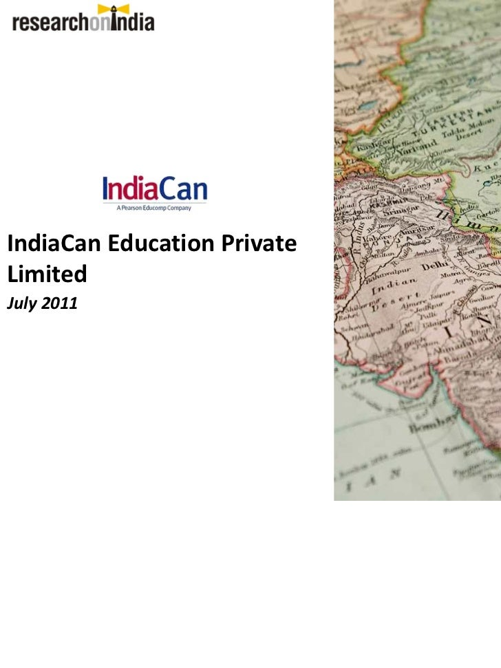 IndiaCan Education PrivateLimitedJuly 2011