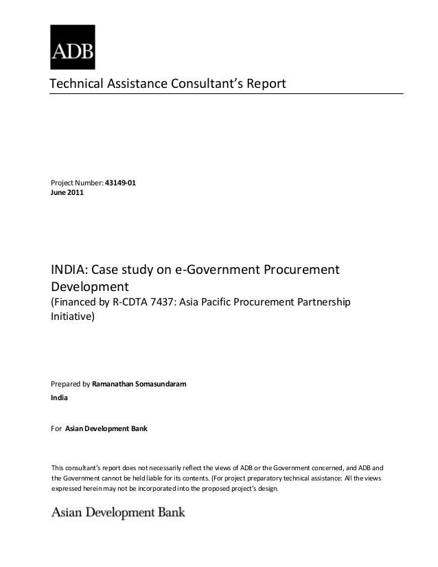 Technical Assistance Consultant's Report This consultant's report does not necessarily reflect the views of ADB or the Gov...