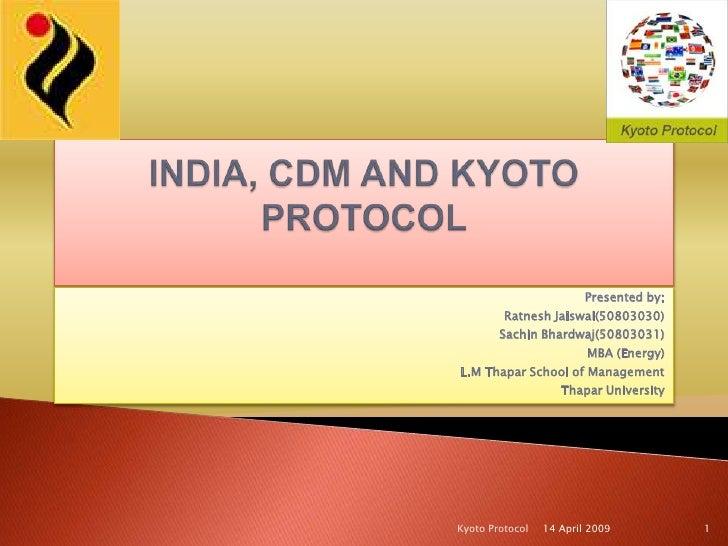 India, Cdm And Kyoto Protocol