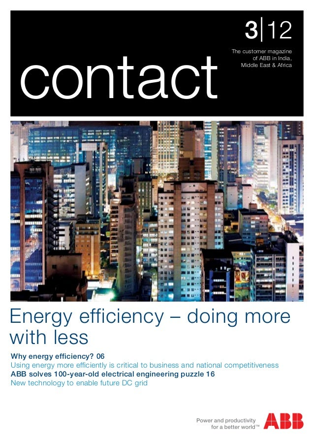 ABB Contact 3/12 (India) Energy Efficiency Issue