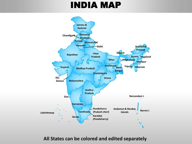 INDIA MAP                                Jammu &                                 Kashmir                 Chandigarh       ...