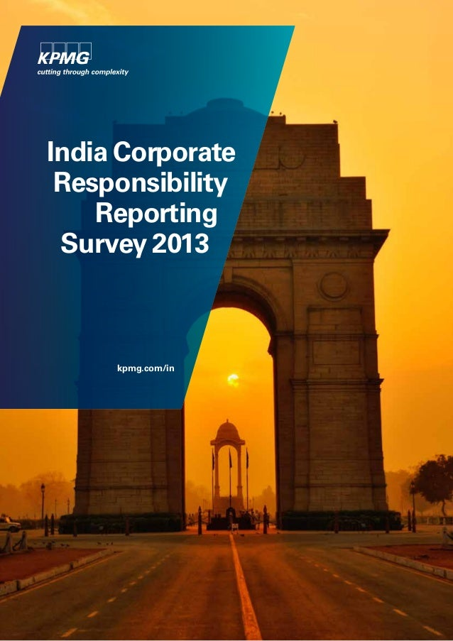 India Corporate Responsibility Reporting Survey 2013  kpmg.com/in