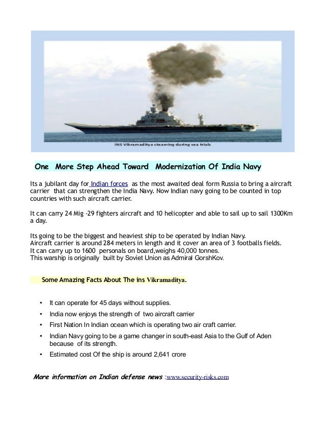 One More Step Ahead Toward Modernization Of India Navy Its a jubilant day for Indian forces as the most awaited deal form ...