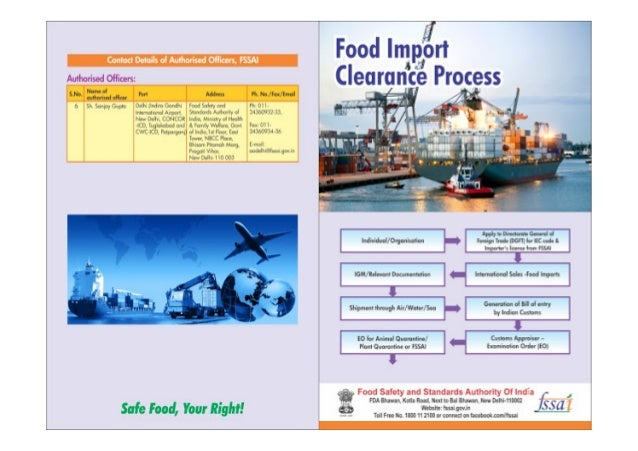 India Food Import Clearance Process