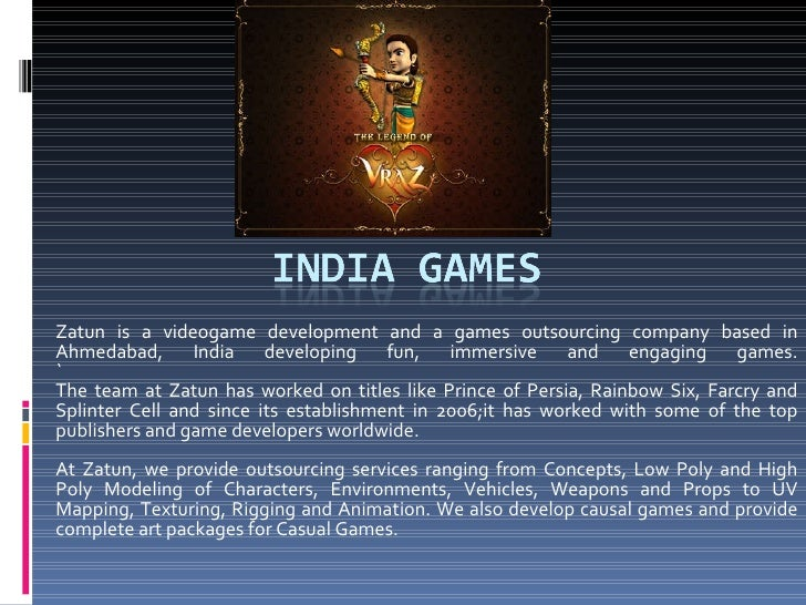 India Games | Game Development India | Game Designing India | Video Game Outsourcing India