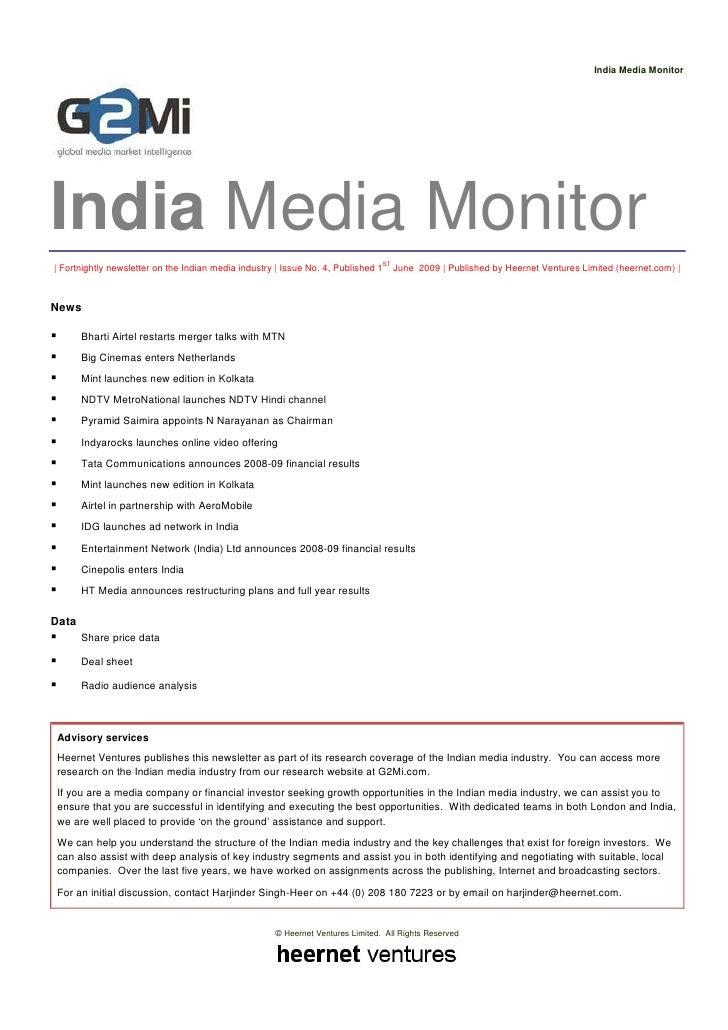 India Media Monitor (Issue 4)