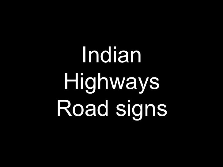 Indian Highways Road signs