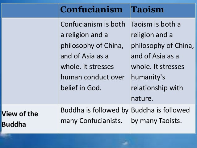 Compare and contrast confucianism and taoism essay
