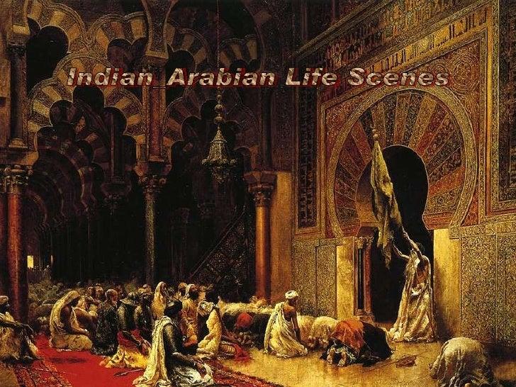 Indian arabian life scenes old paintings-(catherine)