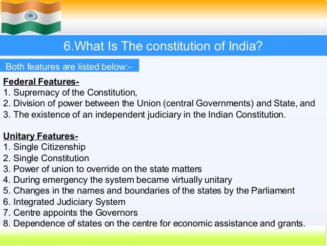 the law and constitution of india essay Describe the fundamental duties incorporated in the indian constitution   fundamental rights are superior to ordinary law of the land they are conferred  a.