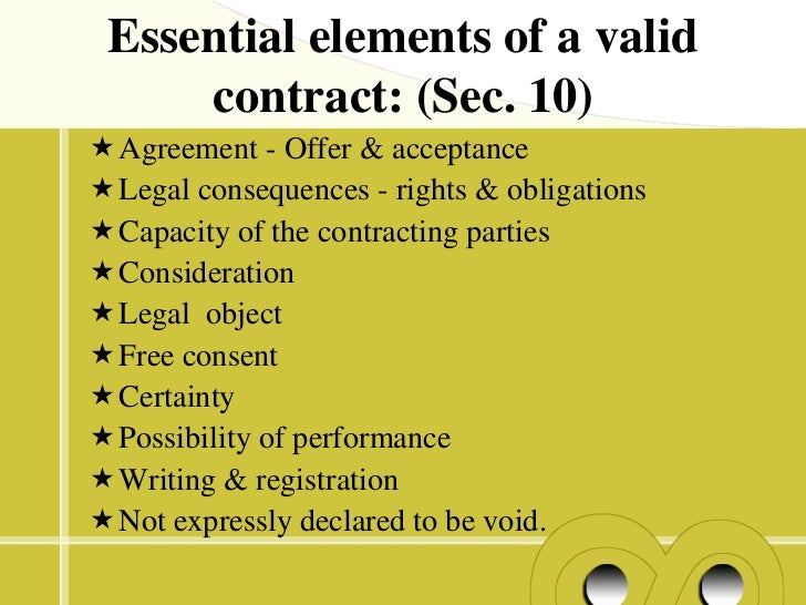 elements valid contract essays Essays the characteristics of an offer in cisg and pecl  valid contract,  characteristics of an offer.