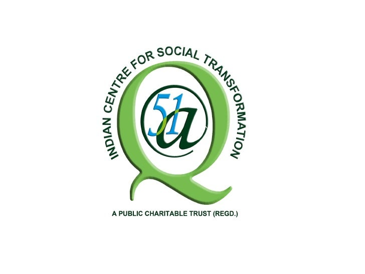 (A Registered Trust : Established on 14 November 2009)Indian CST is a public charitable Trust witha mission to work toward...