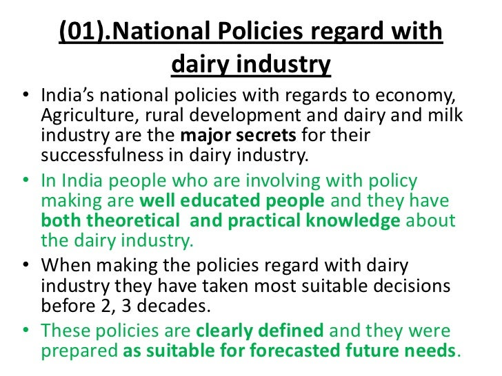 analysis of the indian dairy industry