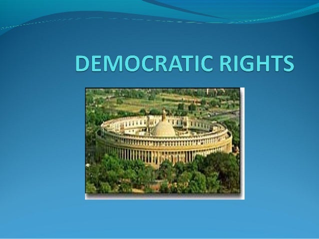 India is a democratic countryPrinciple of democracy is that the government of the state is carried out with the co-operat...