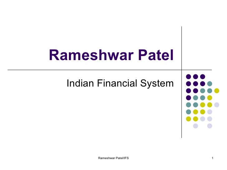 Indian Financial System- notes