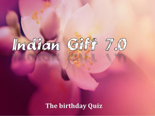 The birthday Quiz