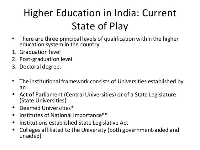 privatization of higher education in india S divya abirami our university system is, in many parts, in a state of disrepair in almost half the districts in the country, higher education enrolments are abysmally low, almost two-third of our universities and 90 per cent of our colleges are rated as below average on quality parameters.