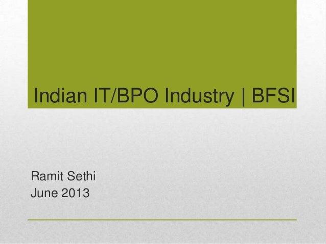 Indian IT - BPO Industry BFSI