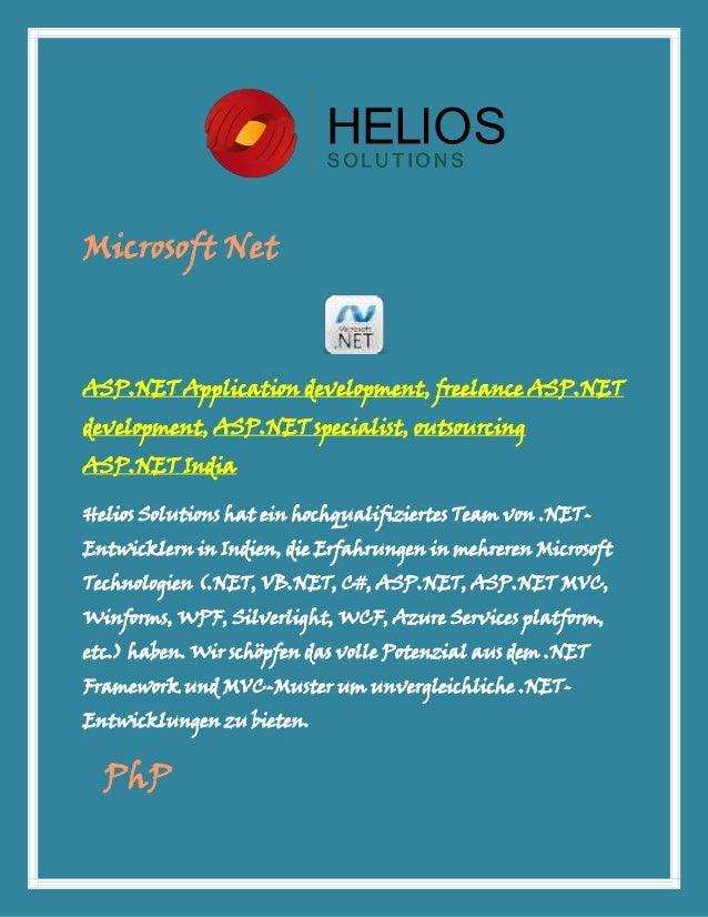 Microsoft NetASP.NET Application development, freelance ASP.NETdevelopment, ASP.NET specialist, outsourcingASP.NET IndiaHe...