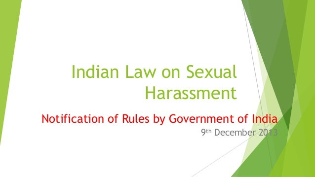 India sexual harassment law