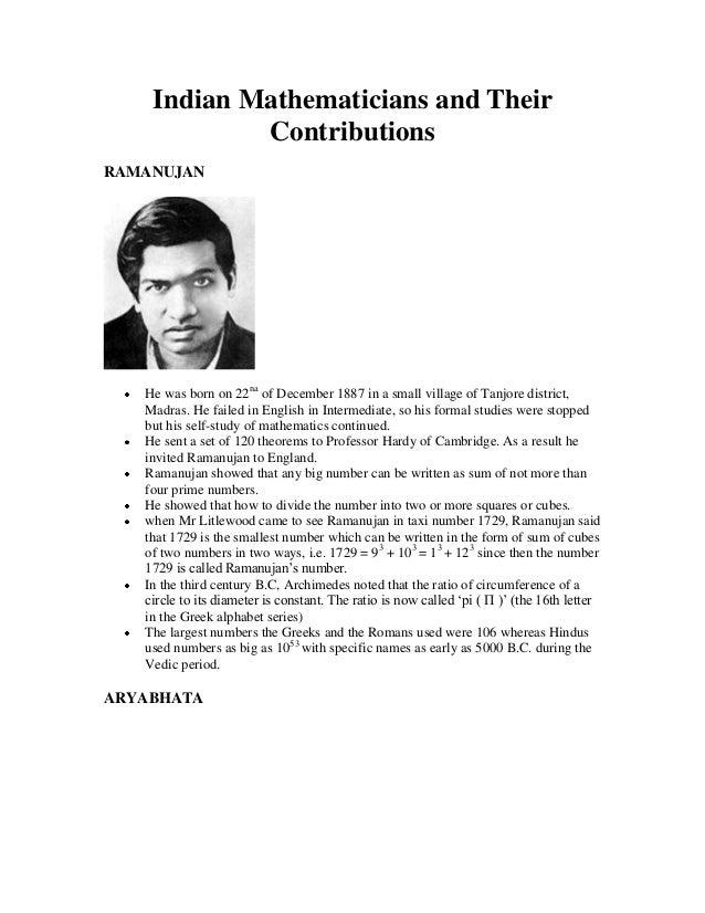 Essay On Mathematicians