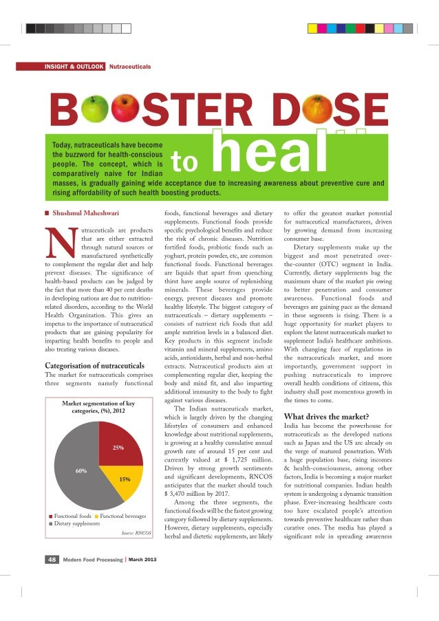 Indian Nutraceuticals Market - July'13