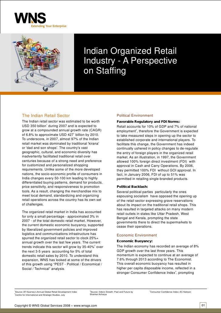 Indian Organized Retail                                                                Industry - A Perspective           ...