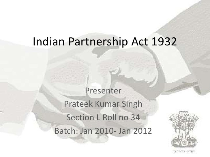 Indian partnership act 1932