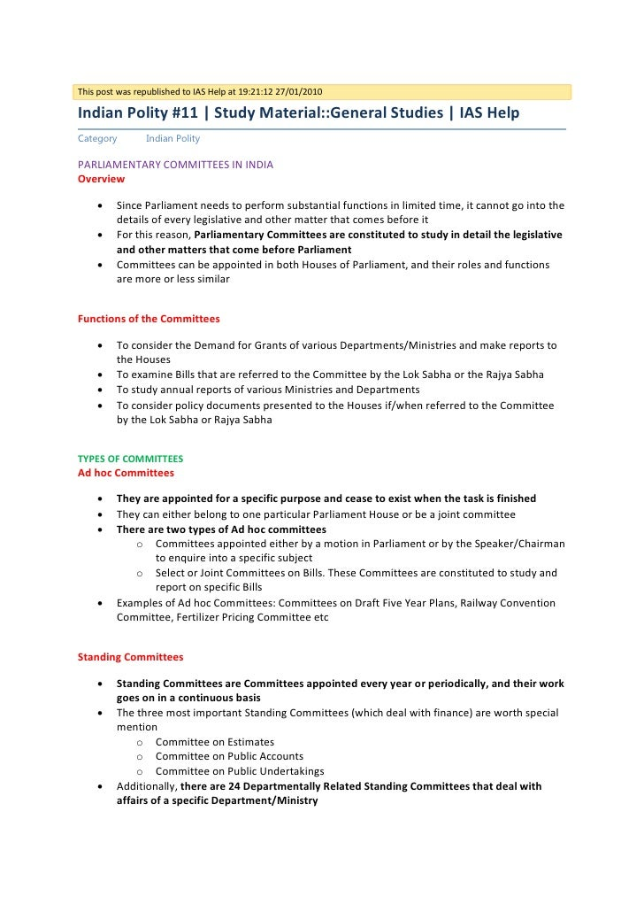 This post was republished to IAS Help at 19:21:12 27/01/2010Indian Polity #11 | Study Material::General Studies | IAS Help...